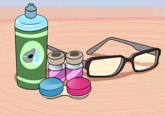 استفاده از مایع لنز